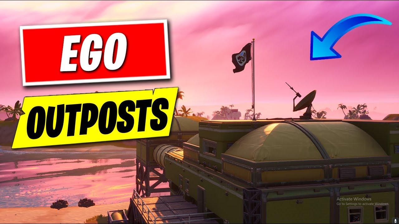 All Ego Outposts Ego Landmark Locations Fortnite Battle Royale