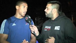 39 STAY HUNGRY STAY HUMBLE 39 ANTHONY JOSHUA KELL BROOK INTERVIEW FOR iFILM LONDON