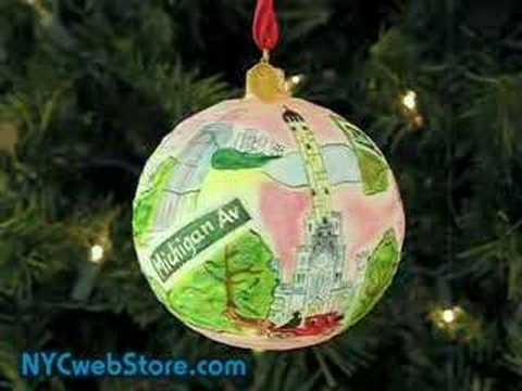 chicago hand painted glass ornaments - Chicago Christmas Ornaments