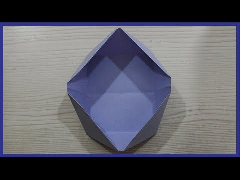 How To Make A Paper Snacks Bowl - Origami Snacks Bowl - Paper Activity