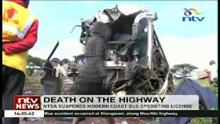 NTSA suspends Modern Coast license after early morning accident