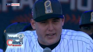 Anthony Rizzo gives emotional thank you to David Ross
