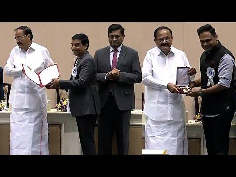 Dil Raju & Vamsi Paidipalli Received National Award For Maharshi Movie @ 67th National Film Awards