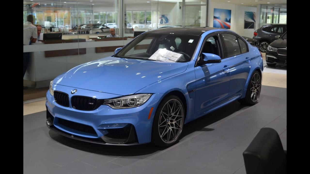 All New BMW M Sedan In Yas Marina Blue Metallic YouTube - Blue bmw m3