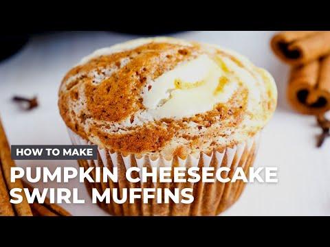 How To Make The Best Pumpkin Cheesecake Swirl Muffins