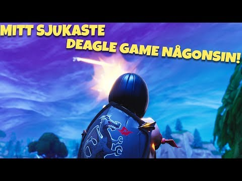 MITT SJUKASTE GAME NÅGONSIN MED DEAGLE | Fortnite på Svenska