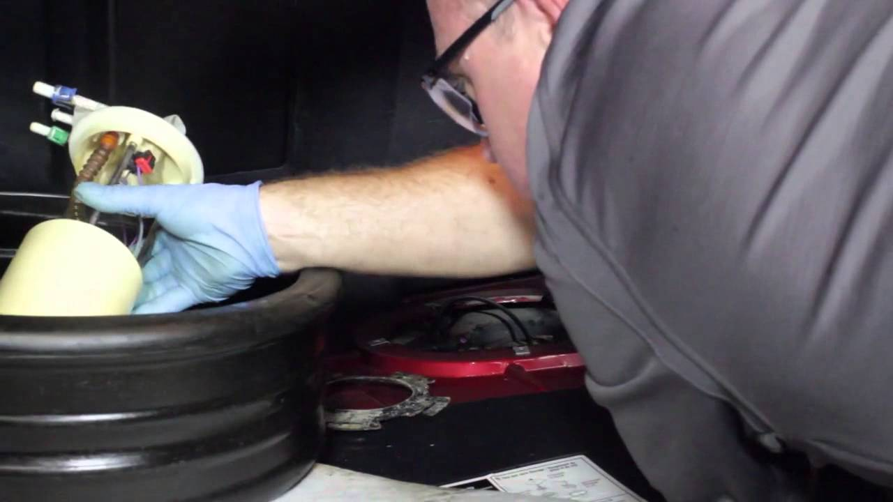 How To Replace A Fuel Pump With An Access Panel Youtube Galant Filter
