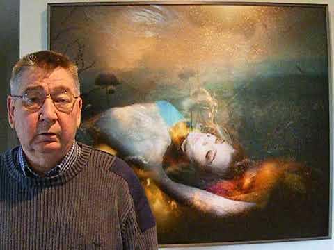 Art Collector Stephen Scott collecting Gisele's underwater art.