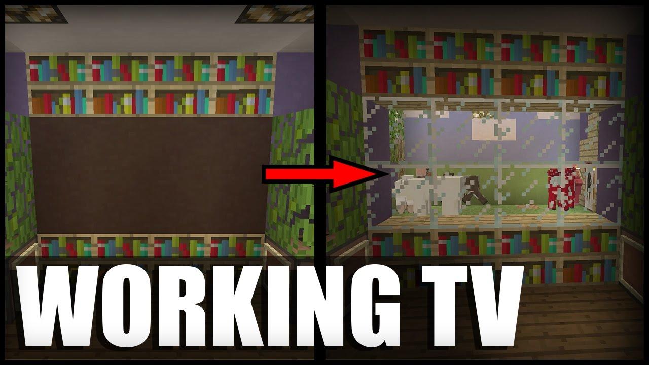 working tv in minecraft no modscommand blocks youtube