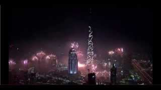 2015 OFFICIAL  FULL Burj Khalifa, DUBAI - 2015 New Years Fireworks Show [HD]