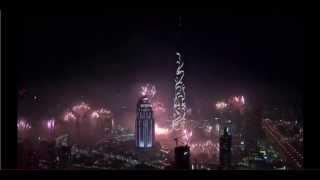 2015 OFFICIAL  FULL Burj Khalifa, DUBAI - 2015 New Years Fireworks Show [HD]