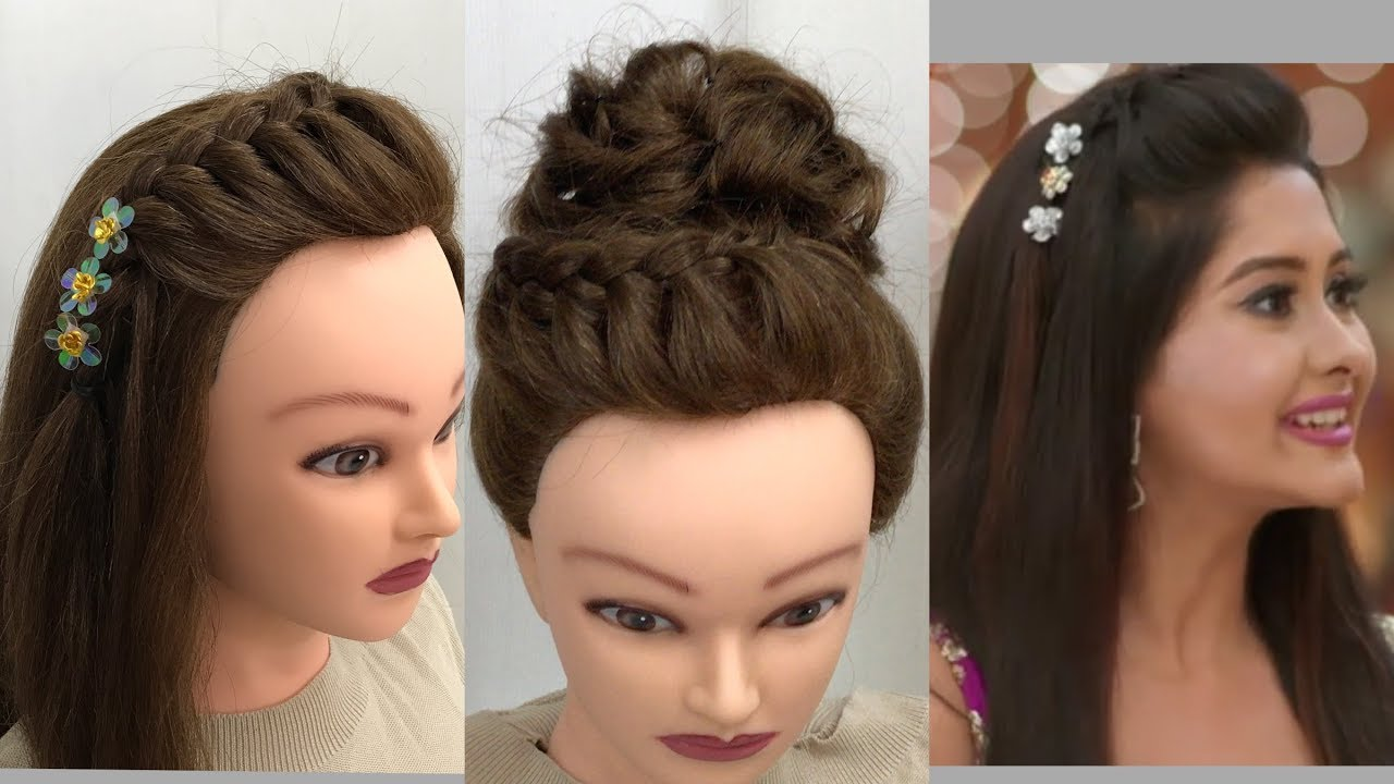 beautiful hair style 3 beautiful hairstyles for function easy wedding 1220 | maxresdefault