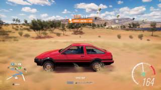 1985 Toyota Sprinter Trueno GT APEX - Speed Jump Crash Test - Forza Horizon 3 - 1440p 60fps