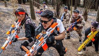 LTT Game Nerf War : Patrol Police Warriors SEAL X Nerf Guns Fight Braum Crazy Restricted Area