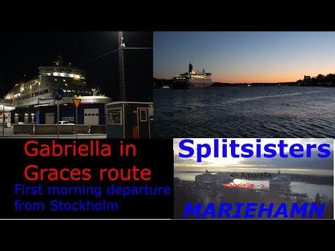 M/S Gabriella on Turku Route!? Splitsisters in Mariehamn! HD