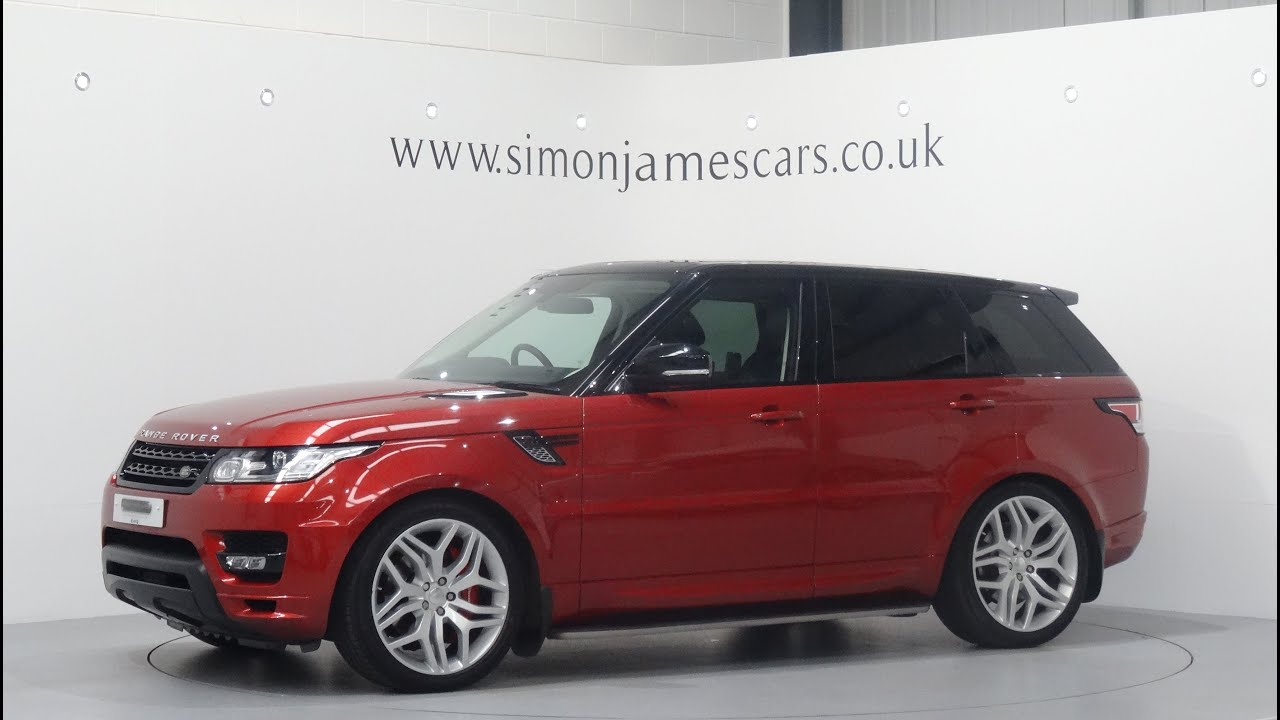 Range Rover Sport 30 SDV6 Autobiography Finished in Chile Red