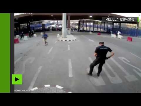 Espagne : arrestation musclée de l'agresseur d'un policier à Melilla