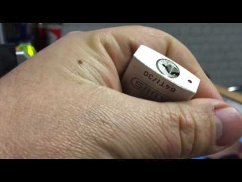 Взлом отмычками ABUS  Titalium  077 TLI Abus Titalium 64TI 30 Picked (All my videos are for security awareness and entertainment only.You should only pick locks that you ow