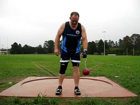 Men's Masters 50+ Weight Throw (25lb) - YouTube Hammer Throw Technique