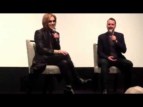 Yoshiki of X Japan, with Stephen Kijak, director of We Are X - Part 1