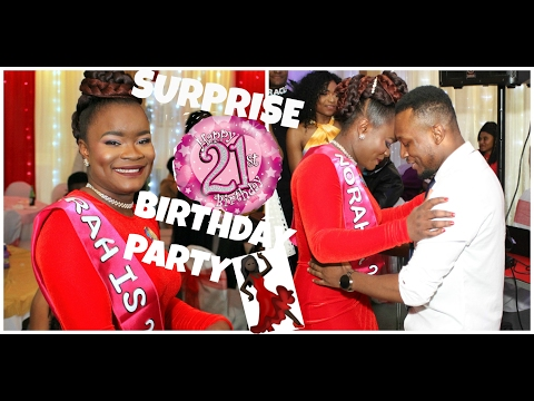 VLOG| NORAH'S SURPRISE 21ST BIRTHDAY PARTY| PLEASE WATCH ON LAPTOP. NOT AVAILABLE ON MOBILE FOR NOW
