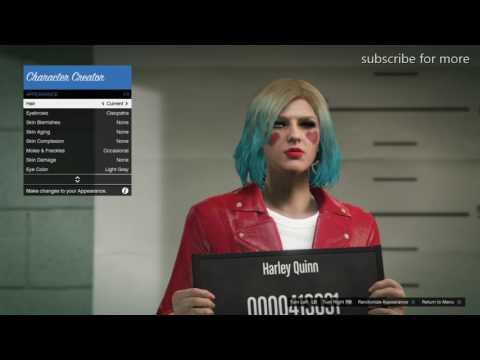 GTA5 how to make Harley Quinn character creation