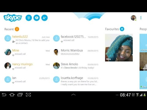 Skype Android App - How To Add People By Searching Skyp... | Doovi