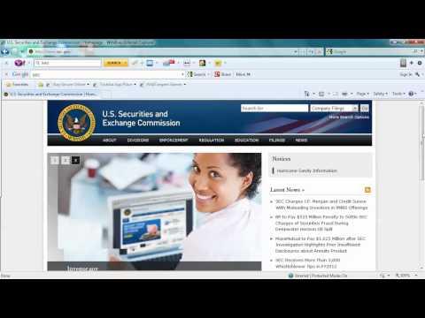 How to Analyze a Public Company (SEC)