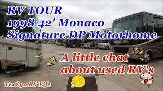 RV TOUR   A little used RV Chat and a 1998 42' Monaco Signature Motorhome DP