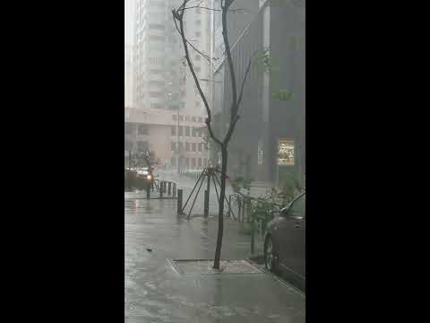 Typhoon Hato T10 in Macau... Frightening...