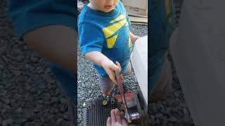 Matthew learning to be a mechanic