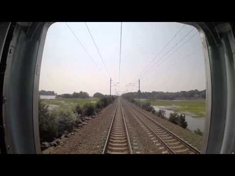 Amtrak Train 172 - New London to Kingston Rear View (GoPro)