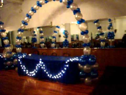 021 3METALIC BLUE AND SILVERBIRTHDAY PARTY