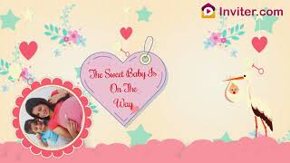 Animated Baby Shower Invitation Video | Seemantham | Godh bharai