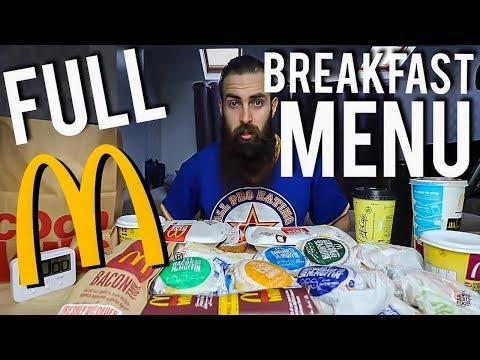 The Full McDonald's Breakfast Menu Challenge   BeardMeatsFood