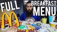 The ENTIRE McDonald's Breakfast Menu Challenge | BeardMeatsFood