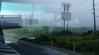 期間困難区域(右側車窓)…JR常磐線「列車代行バス」浪江→富岡
