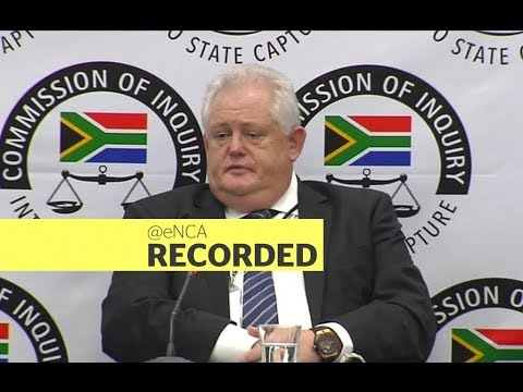 Former Bosasa COO Angelo Agrizzi continues to testify at the state capture inquiry