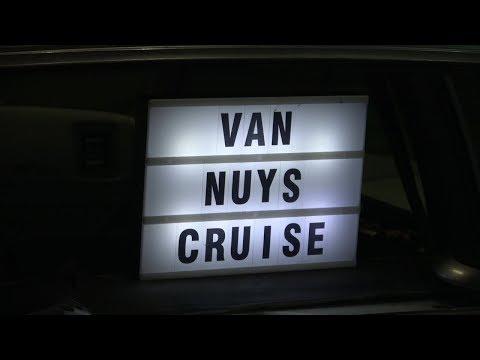 Van Nuys California Lowrider Cruise Night With Drone Footage 4k