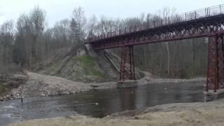 Horsens Bryrup Silkeborg jernbane - frilagt bro ved Østbirk over Gudenåen