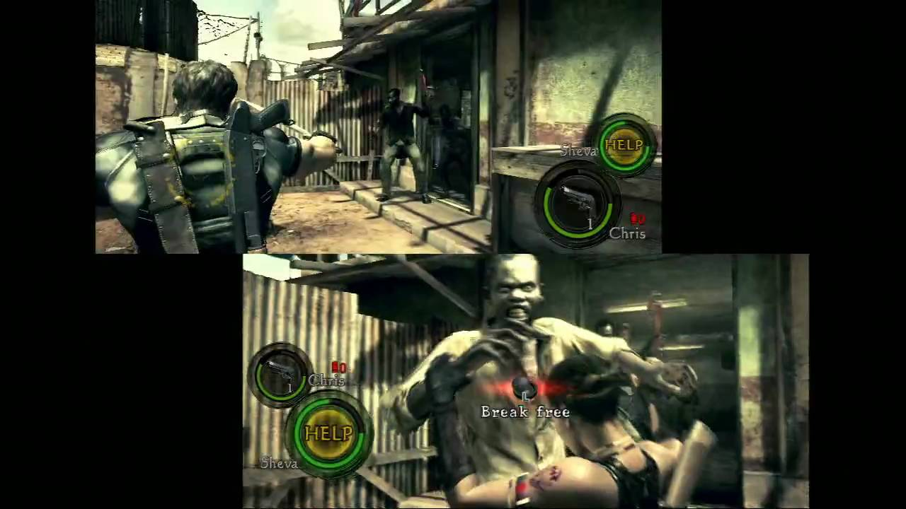 Resident Evil 5 Demo Co Op Gameplay Youtube