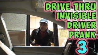 Drive Thru Invisible Driver Prank 3