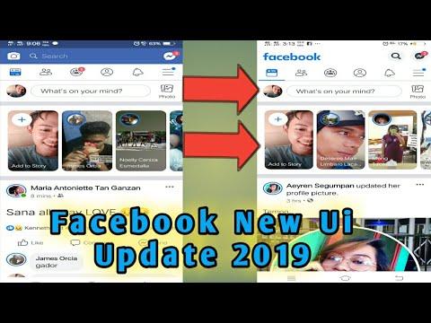 New Facebook UI Update 2019