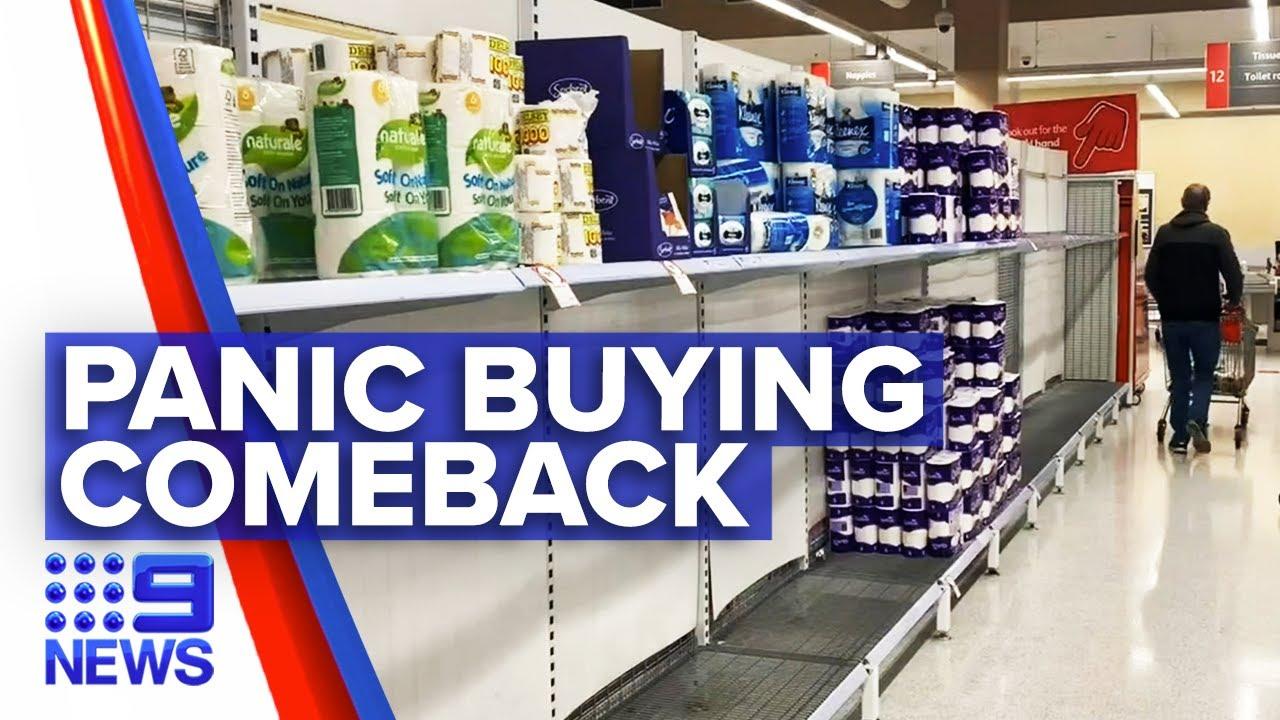 Coronavirus: Product limits back as panic buying returns | 9 News Australia – 9 News Australia