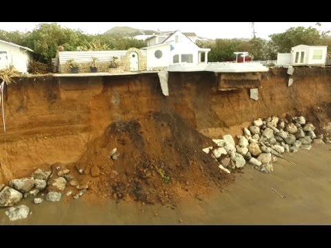 Coastal Erosion Pacifica Ca Jan 11,2017 Drone Footage