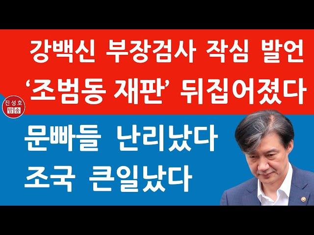 조국 조카 재판서 '정의론' 강연한 강백신 부장검사! 문재인 조국 듣고 있니? (진성호의 융단폭격)