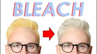 How to Bleach Hair and Get Rid of Yellow/Orange Tones