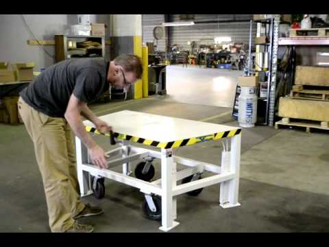 Verti Lift Hydraulic Adjustable Portable Workbench