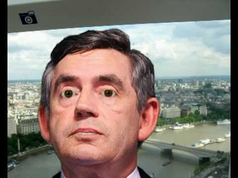IMMERSION READING - Subtitled British Prime Minister Gordon Brown Performs Karaoke on the London Eye