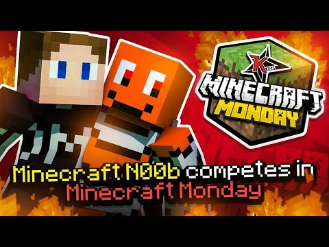 Minecraft n00b Competes In Minecraft Monday (w/Zerkaa)
